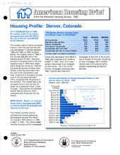 Housing profile: Denver, Colorado