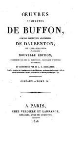 Oeuvres complètes de Buffon: avec les descriptions anatomiques de Daubenton, son collaborateur, Volume33,Partie4