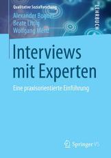 Interviews mit Experten PDF