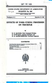 Effects of Pork-curing Processes on Trichinae