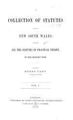 A Collection of Statutes Affecting New South Wales