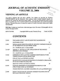 Journal of Acoustic Emission PDF