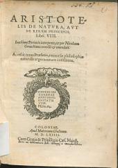 De natura aut de rerum principiis libri VIII