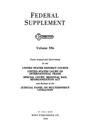 Federal supplement. [First Series.]