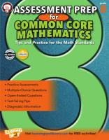 Assessment Prep for Common Core Mathematics  Grade 8 PDF