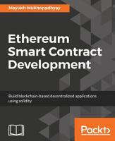 Ethereum Smart Contract Development PDF