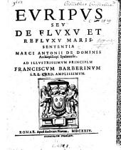Euripus, seu de fluxu et refluxu maris sententia