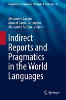 Indirect Reports and Pragmatics in the World Languages PDF