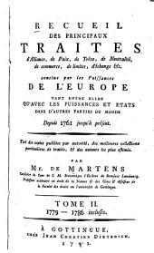 Recueil des principaux traités d'alliance, de paix, de trêve--Supplément au Recueil des principaux traités d'alliance, de paix, de trêve ...