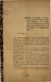 Rapport van de heeren Van Roijen, Quintus, De Haan, Cremers, Brouwer en Modderman, over het Ontwerp van Gemeentewet en daarbij behoorende geleidende Missive van den Minister van Binnenlandsche Zaken