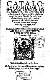 Catalogus familiae totius aulae caesareae