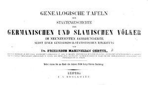 Genealogische Tafeln zur Staatengeschichte der germanischen und slawischen V  lker im neunzehnten Jahrhunderte  nebst einer genealogisch statistischen Einleitung PDF
