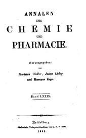 Justus Liebig's Annalen der Chemie: Bände 79-80