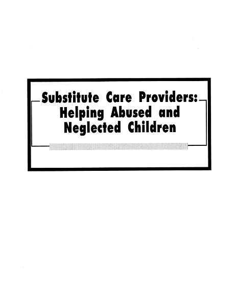 Substitute Care Providers