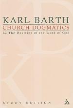 Church Dogmatics Study Edition 3