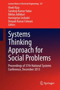 Systems Thinking Approach for Social Problems PDF