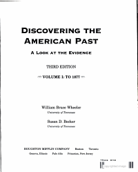 Discovering The American Past Book PDF