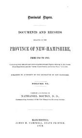Provincial and State Papers: Volume 6