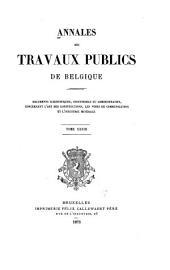 Annales des travaux publics de Belgique: Volume33
