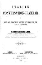 Italian conversation grammar PDF