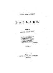 English and Scottish Ballads: Volume 1
