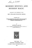Modern Mystics and Modern Magic PDF