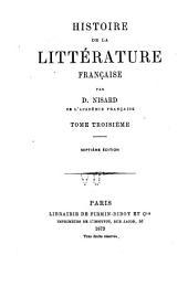 Histoire de la littérature française ...