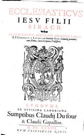 Ecclesiasticvs Iesv Filii Sirach