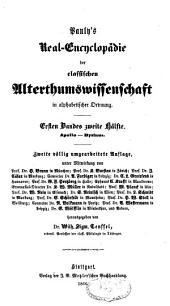 Pauly's Real-Encyclopädie der classischen Alterthumswissenschaft in alphabetischer Ordnung: Band 2