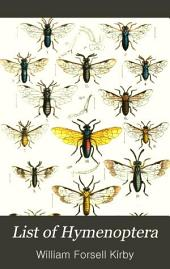 List of Hymenoptera: With Descriptions and Figures of the Typical Specimens in the British Museum. Vol. I. Tenthrediniadæ and Siricidæ