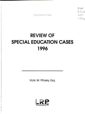 Review of Special Education Cases
