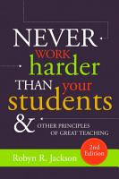Never Work Harder Than Your Students and Other Principles of Great Teaching  2nd Edition PDF
