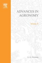 Advances in Agronomy: Volume 10