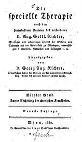 Die specielle Therapie: Chronische Krankheiten ; 2. Abtheilung, Volume 4