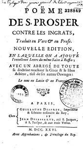 Poëme de Saint Prosper Contre les Ingrats, traduit en vers et en prose par Le maistre de Sacy