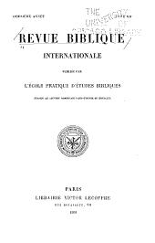 Revue biblique: Volume12