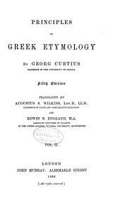 Principles of Greek Etymology: Volume 2