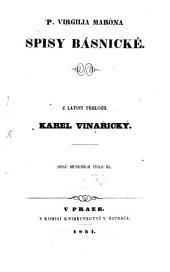 Spisy básnické: Z latiny přeložil Karel Vinarický