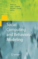 Social Computing and Behavioral Modeling PDF