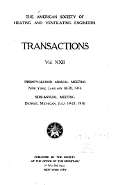 Transactions of the American Society of Heating and Ventilating Engineers: Volume 22