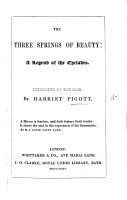 The Three Springs of Beauty  a Legend of the Cyclades PDF