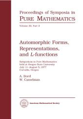 Automorphic Forms, Representations, and L-functions: Part 2