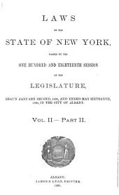 Laws of the State of New York: Volume 2, Part 2