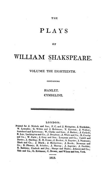 Download The Plays of William Shakespeare Book