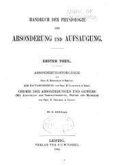 Handbuch der physiologie: bd. Physiologie der absonderung
