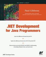 NET Development for Java Programmers PDF