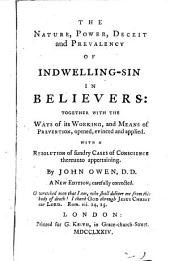 Nature, Power, Deceit and Prevalency of Indwelling Sin in Believers ...