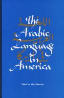 The Arabic Language in America PDF