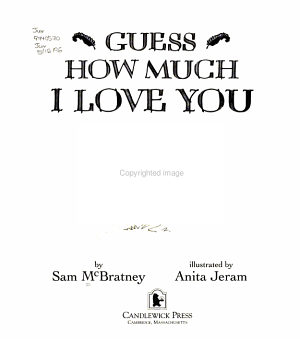 Guess how Much I Love You