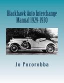 Blackhawk Auto Interchange Manual 1929-1930